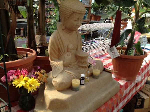 Beige Buddha Statue