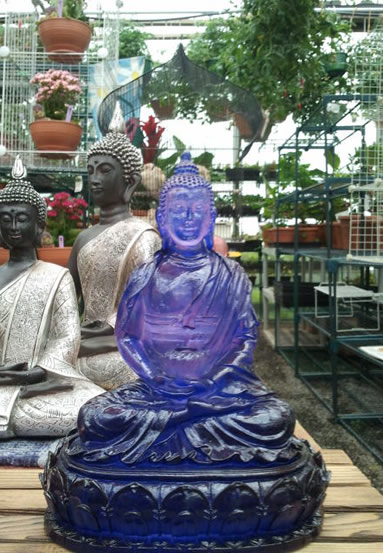Buddhas of all colors and sizes.