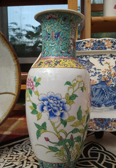 Beautiful Blue Flower Vase.
