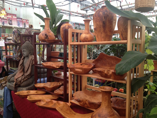 Hand-Carved Wooden Bowls, Urns, Plates, and Platters for a Unique and Decorative addition to your home.