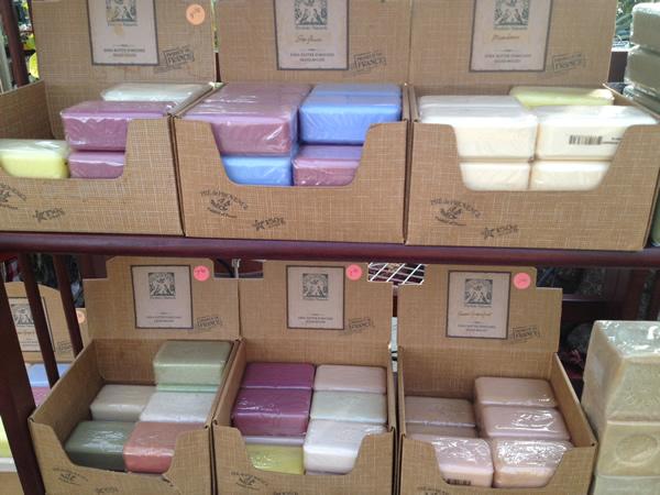 Moisturizing Shea Butter Enriched Pre de Provence Soaps.