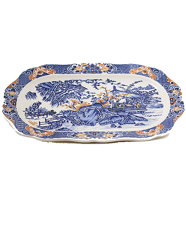 Blue and Orange Plate